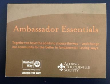 Ambassador Card front