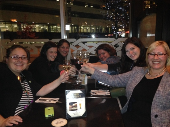 Dinner with more fab women fundraisers - Sara, Michelle, Amy, Ligia, Rory and me.