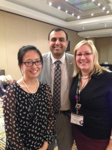 Helen, Rickesh and me at the AFP board meeting.