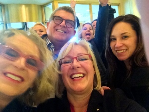 Fundraising heroes, nonprofit friends and craziness! L to R, Simone Joyaux, Tom Ahern, me and Shanon Doolittle
