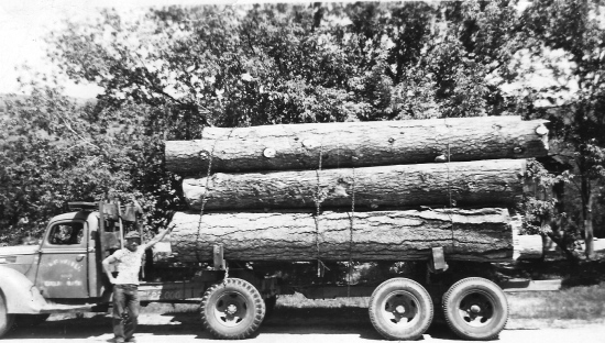 My maternal grandfather, T. Thompson, with his logging truck in 1943.
